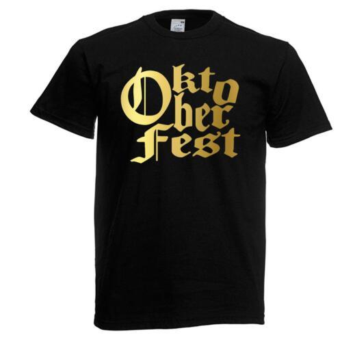 Unisex Black Oktoberfest Festival T-Shirt Shirt Germany Beer Drinking Sausage