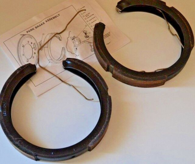 FORD AU BA BF FALCON REAR HANDBRAKE SHOES  BAF2200A (2) WITH  SPRINGS - GENUINE