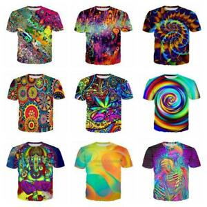 New-Fashion-Women-Men-colorful-Trippy-Funny-3D-Print-Casual-T-Shirt-S-5XL