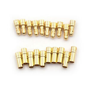10Pair-3-5mm-Gold-plated-Bullet-Banana-Plug-Connector-Male-And-Female-2019