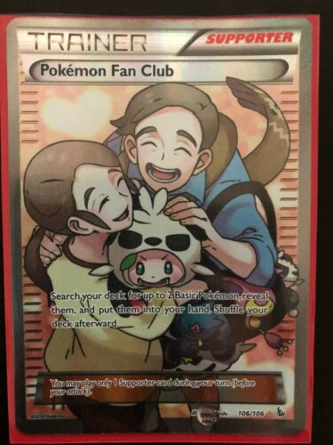 Pokemon Fan Club Full Art Flashfire 106//106