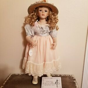 Delton Products Victorian 25 inch Porcelain Doll #7109-5 Brand New #92/2000 COA