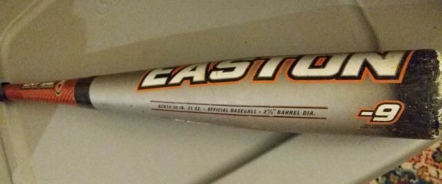 "Easton Stealth Comp BCN14 30/21 Senior League Baseball Bat slvr/org 2 3/4"" -9"