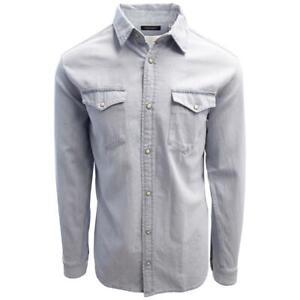 Jack-amp-Jones-Men-039-s-Light-Blue-Denim-Slim-Sheridan-L-S-Shirt-Retail-59-50