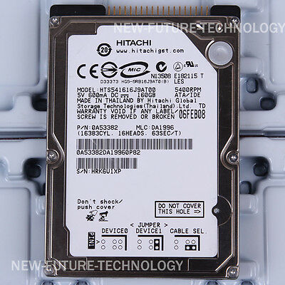 "HITACHI  HTS541616J9AT00 160GB  5400 RPM 2.5/"" PATA-IDE Hard Drive For Laptop HDD"