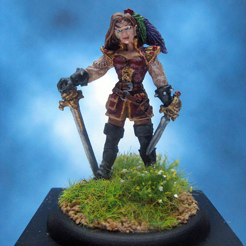 Painted Reaper Miniature Maria pinkblade