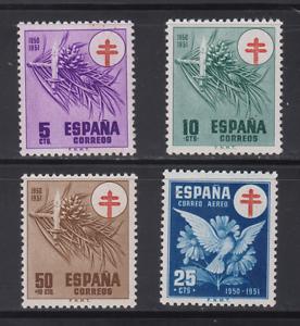 ESPANA-1950-MNH-NUEVO-SIN-FIJASELLOS-SPAIN-EDIFIL-1084-87-TUBERCULOSOS