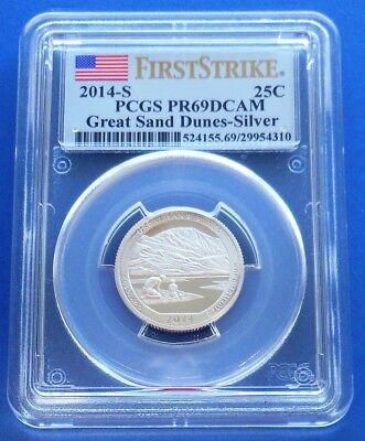 Ltd Edition 2014 S Silver Shenandoah NP Quarter PCGS PR69 DCAM First Strike