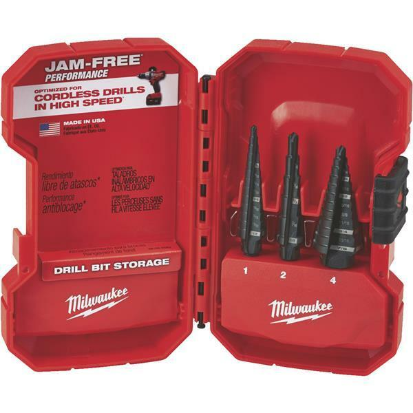 Milwaukee Heavy-Duty High-Quality Performance 3-Piece Step Drill Bit Set