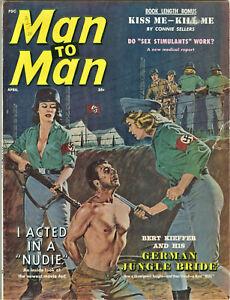 Man to Man Magazine: April 1962 - Pulp, Soldiers, Torture, Wonen, Erotica