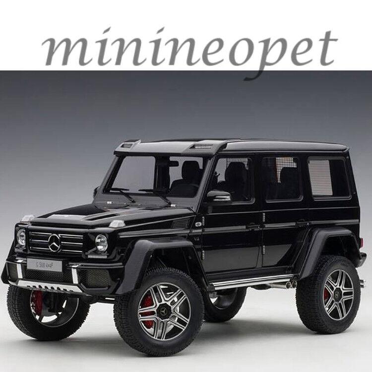 AUTOART 76317 Mercedes Benz G 500 4 X 4 2 1 18 Voiture Modèle Noir Brillant
