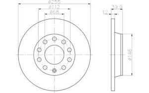 TEXTAR-Juego-de-2-discos-freno-Trasero-255mm-SEAT-EXEO-AUDI-A4-FAW-AUDI-92106303