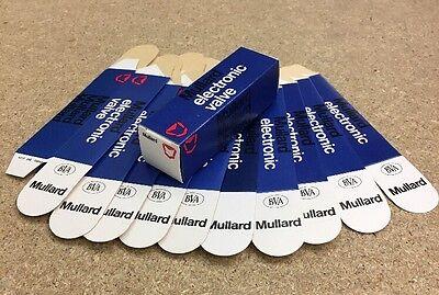 MULLARD VALVE TUBE BOXES X 10pcs SIZE 1 (ECC81/82/83/12AX7)