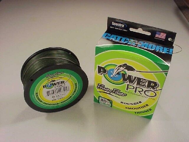 Power Pro Braided Spectra Line 80 lb x 500 yd  Moss Green  (We ship worldwide )
