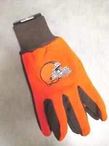 Cleveland-Browns-Handschuhe-Gloves-gesticktes-Logo-NFL-Football-NEU