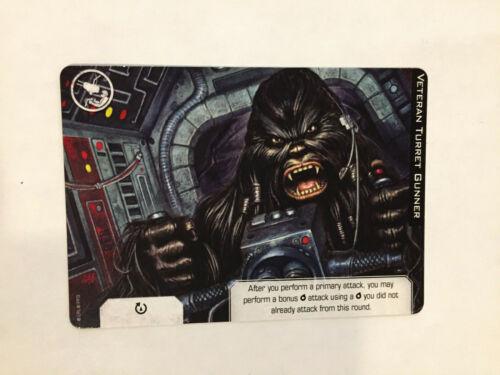 Promo Card Star Wars X-Wing 2.0 OFFICIAL NEW MINT x1 Veteran Turret Gunner