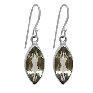 Green-Amethyst-earrings-Jewelry-4-90-gms-925-Sterling-Sliver