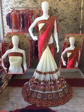 Bollywood Designer Indian Georgette Partywear Sari Embroidered Saree Bous