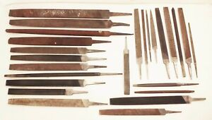 Vtg-machinist-blacksmith-metalworking-hand-files-tool-lot-25pcs-rasps-mill