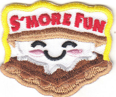 """S'MORE FUN"" PATCH - Iron On Embroidered Patch /Food, Dessert, Baking, Treats"