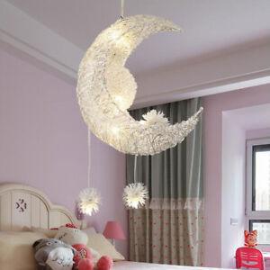 Mond Sterne LED Pendelleuchte Kronleuchter Deckenleuchte ...