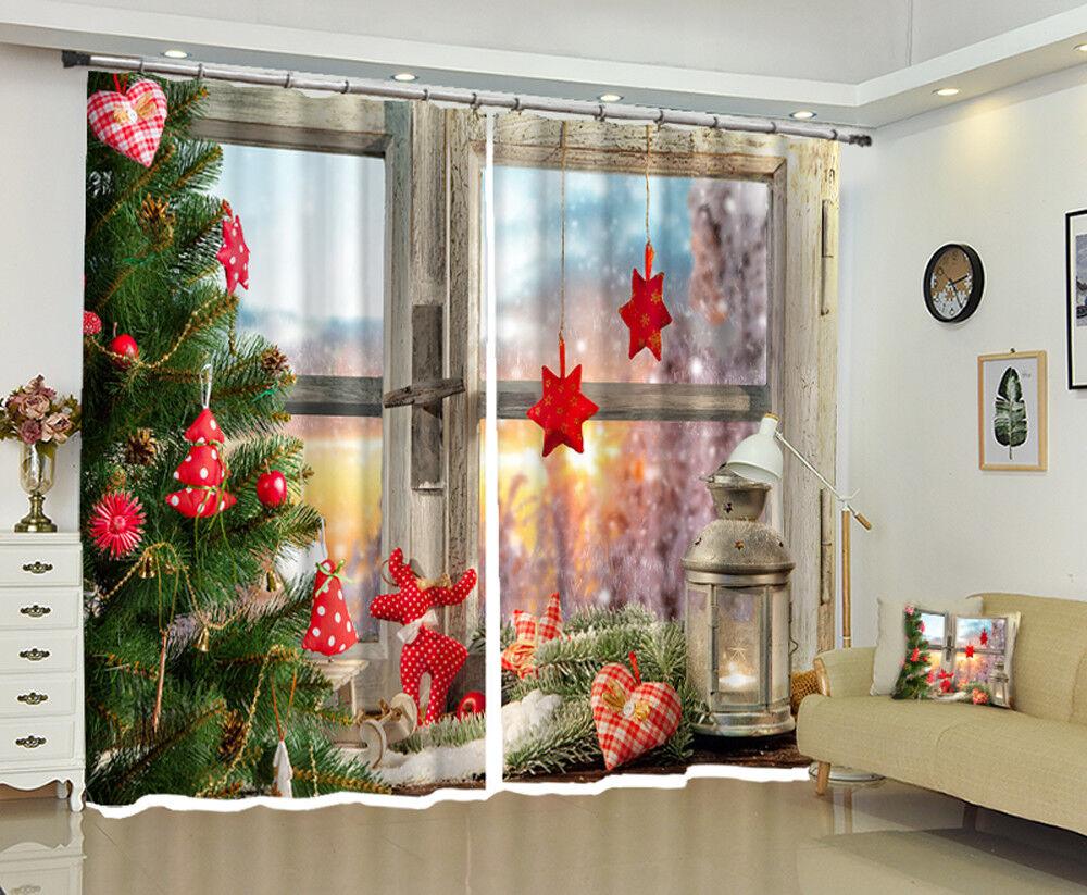 3d navidad XMIN 1221 bloqueo foto cortina cortina de impresión ventana de tela de