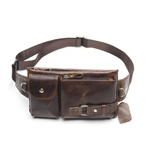 Waist-Bags-Phone-Case-Cover-Men-039-s-Genuine-Cow-Leather-Travel-Belt-Waists-Pouch