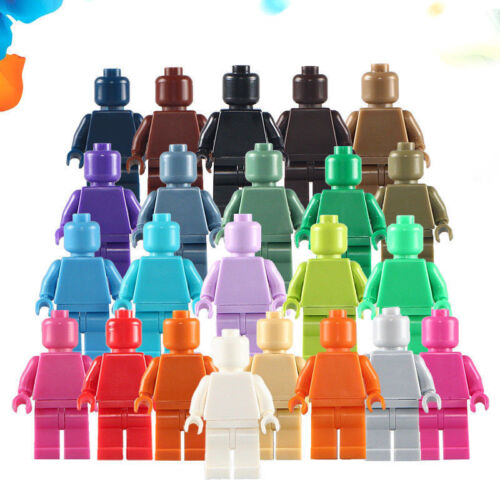 5pcs//lot DIY Multicolor Blank People mini figures Building Blocks Toys