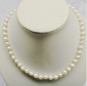16-034-Inch-Choker-Genuine-8-9mm-White-Pearl-Necklace-Cultured-Freshwater