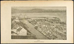 1892-Gravure-vue-de-la-ville-de-Quebec-Canada