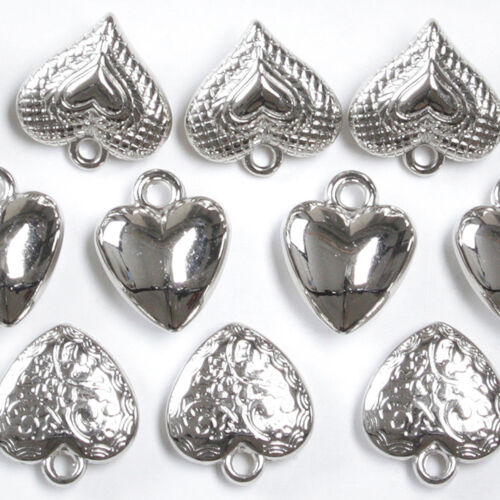 48 x Deko-Herz zum Hängen Herzen Dekoherzen Herzanhänger Herzhänger Bastelherzen