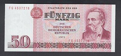 Deutschen Democratic Republic Original 1971 P-30 Germany 50 Mark AU-UNC