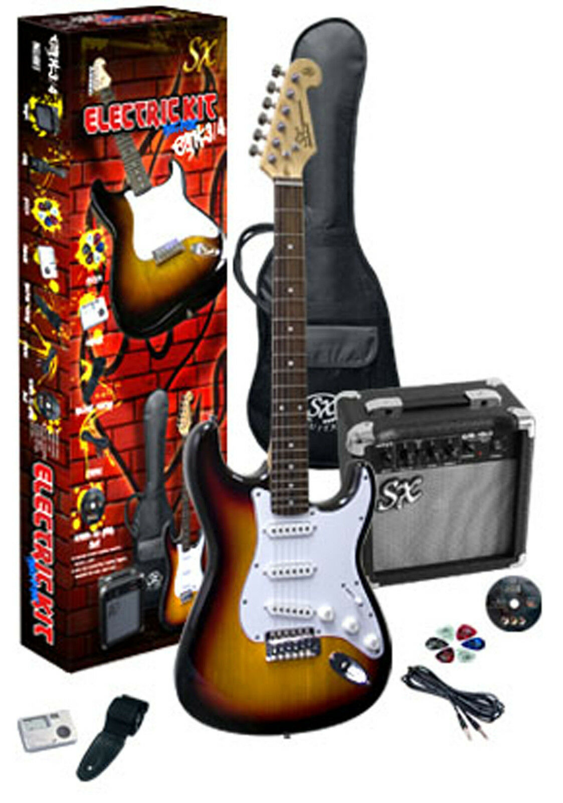 3 4 Electric Guitar package - traveller guitar amp accessories tobacco sunburst