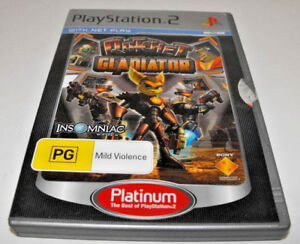 Ratchet-Gladiator-PS2-Platinum-PAL-034-Ratchet-and-Clank-034-Complete