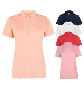 Ladies-Slazenger-Sportswear-Standard-Plain-Golf-Polo-Shirt-Sizes-from-8-to-18