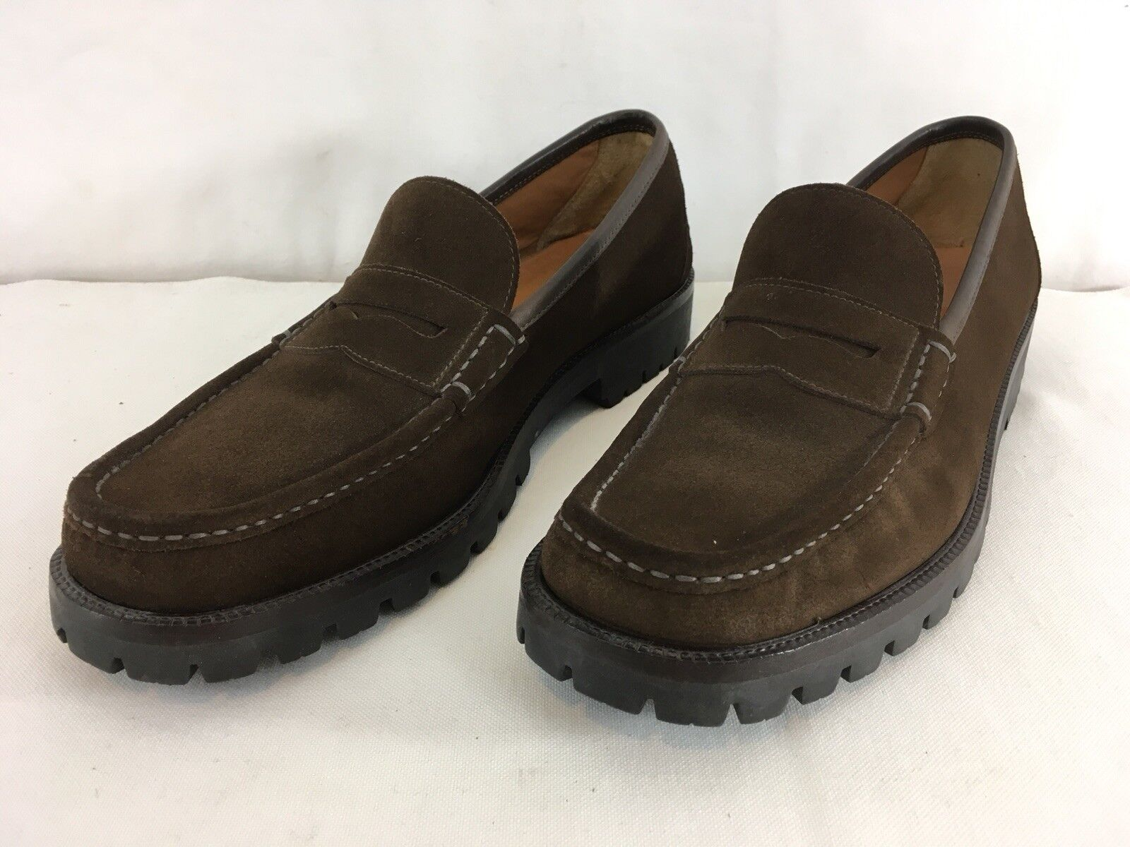 Salvatore Ferragamo  Mens 12 B braun Suede Leather Penny Loafer schuhe