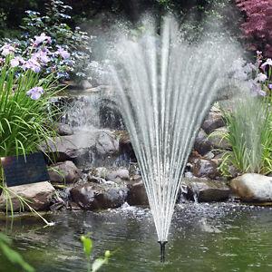 Pompa solare pompa per laghetto acqua gioco fontana da for Pompa esterna per laghetto