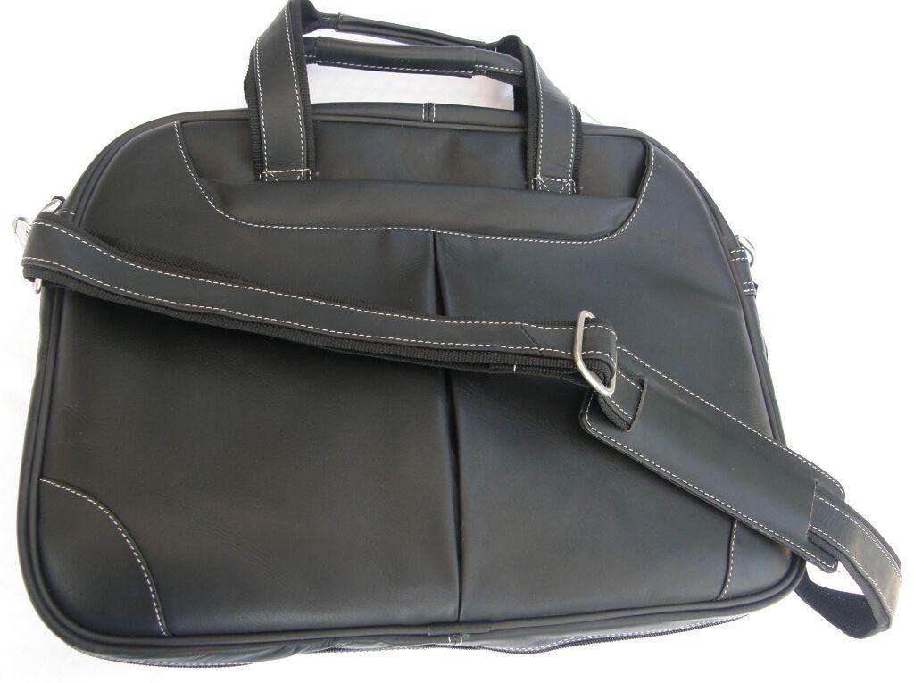 Notebook-   Laptop-Tasche, Leder schwarz, Business - Aktentasche, Aktenmappe | Mittlere Kosten  | Wunderbar  | Attraktiv Und Langlebig