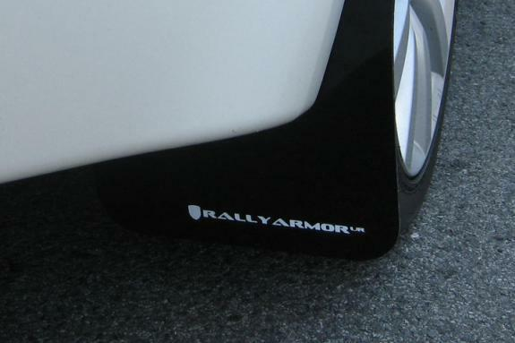 Rally Armor 2008-2015 Mitsubishi EVO X UR RED Mud Flaps Flap w// WHITE Logo