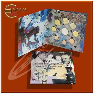 Griechenland-KMS-2012-034-Papanicolaou-034-1-Cent-bis-2-Euro-Stier-10-Euro-Silber