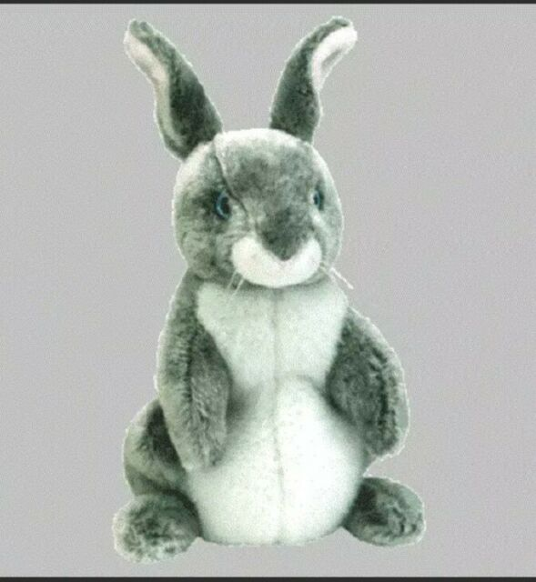 Beanie baby TY Hopper - The Gray and White Bunny Rabbit 7