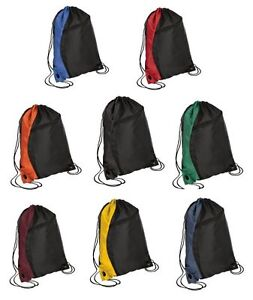 69764936f6bb Details about NEW Colorblock Drawstring Backpack Cinch Sack School Tote Gym  Bag Sport Pack