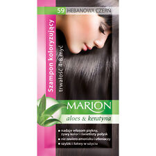 Buy 2 Get 1 MARION Hair Color Shampoo Lasting 4-8 Washes No Ammonia 59.  Ebony Black