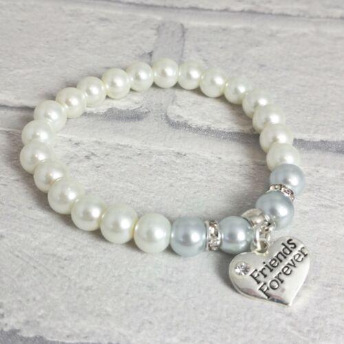 Friends Forever Bracelet Heart Charm Elasticated Bracelet Friendship Gift