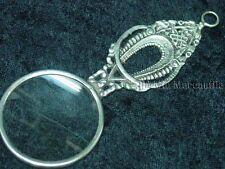 Magnifier glass pendant art deco Parisian silver toned  Victorian Trading