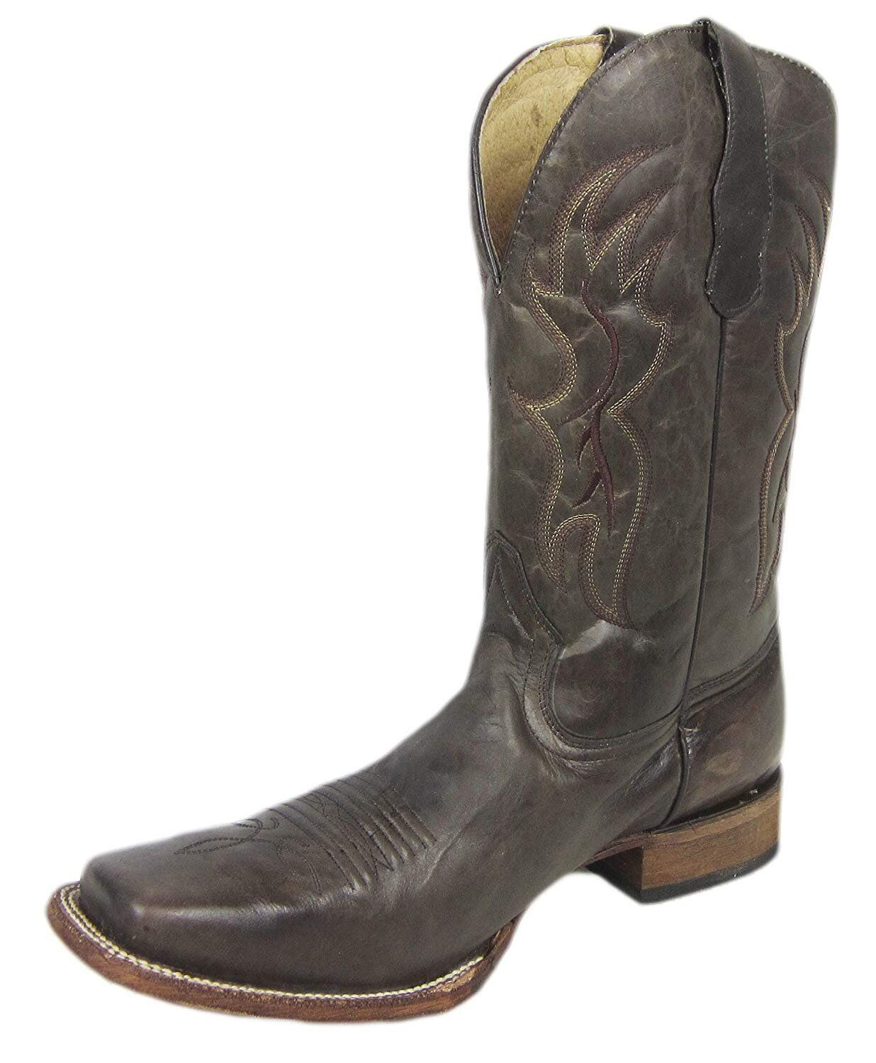 CORRAL Basic pour homme TABAC Western Bout Carré Chaussure L5094