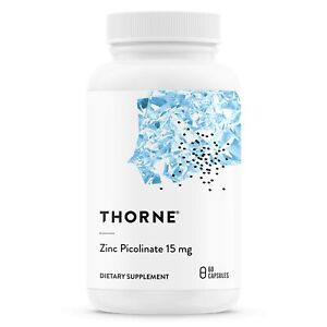 Thorne Research - Zinc Picolinate 15 mg - Highly Absorbable Zinc Supplement t...