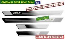 4x Door Sills Guards/ Protectors for Volkswagen GOLF 6 & 7 (MK 6 & 7) 2011-2016