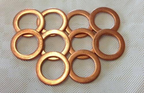 """15 X  brake banjo copper washers 10MM 3//8/""""  Suzuki  Kawasaki  Honda  Yamaha"""