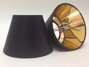 Paralume a molla in tessuto nero oro per lampadari applique ebay